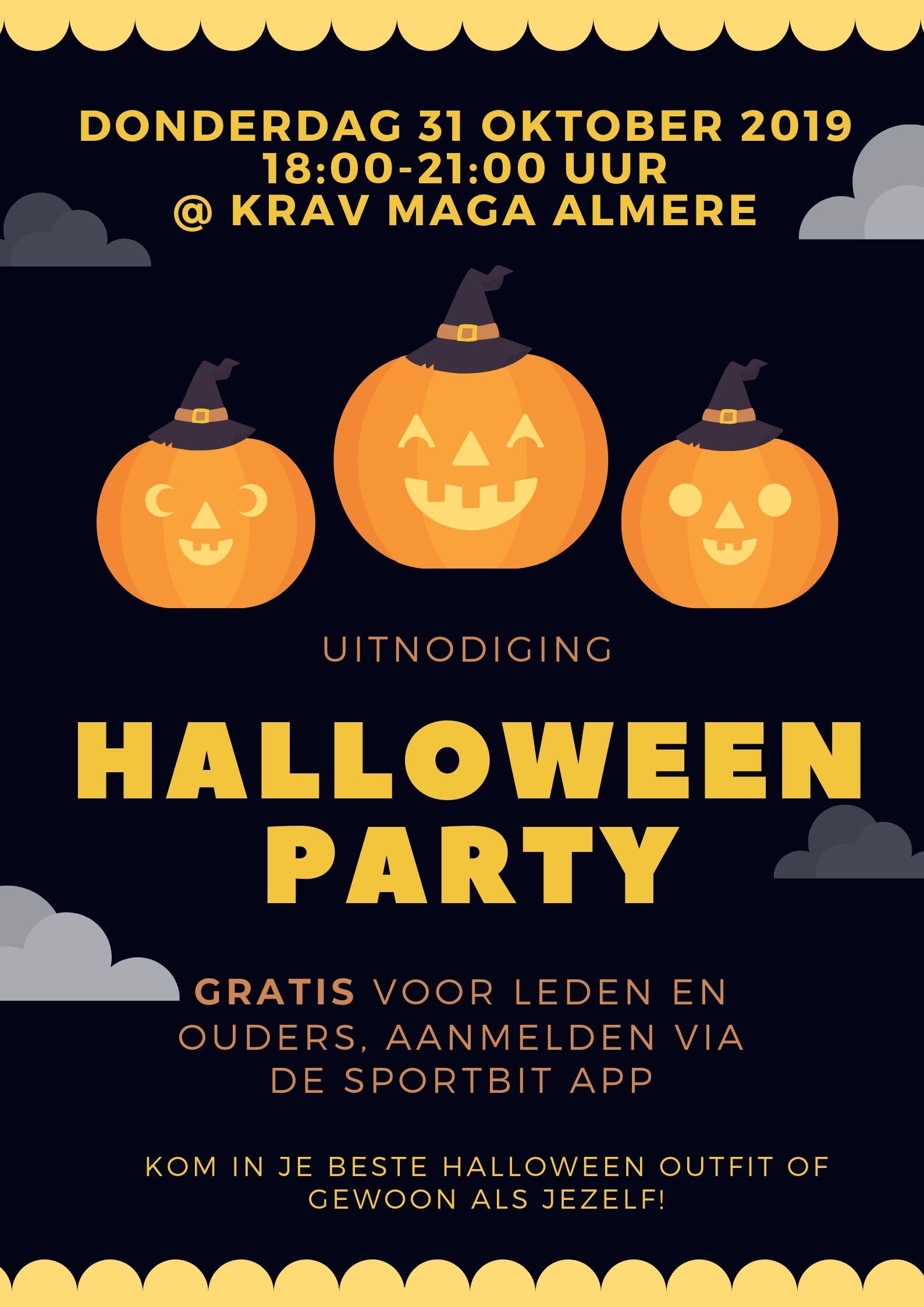 Halloween Feest Almere.Halloween Party Voor Leden Krav Maga Almere